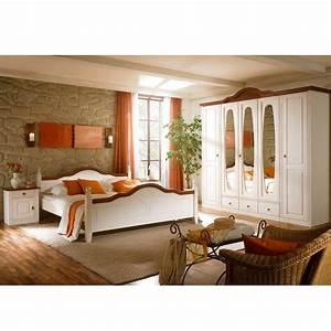 Komplett landhaus schlafzimmer obus in weiss pharao24de for Schlafzimmer komplett weiß