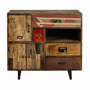 Cabinet Maison Du Monde : mango wood storage cabinet w 90cm kilim maisons du monde ~ Nature-et-papiers.com Idées de Décoration