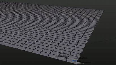 Miura Fold Simulate Mesh Stack