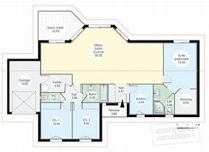 maison de plainpied 1 detail du plan de maison de With faire son plan maison 0 maison de plain pied 1 detail du plan de maison de plain