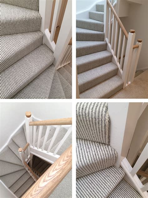 Install Carpet Runner by Brockways Herdwick Stripe Fitted To Hall Stairs And Landing