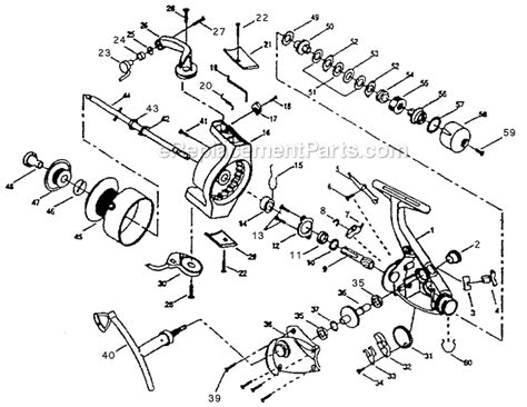 shakespeare ra parts list  diagram
