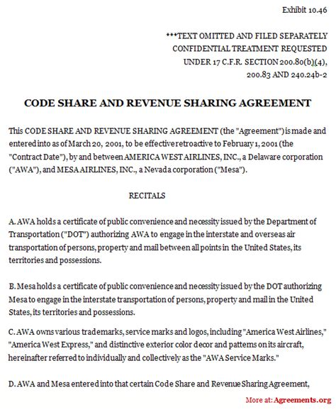 Revenue Contract Template by Code And Revenue Agreement Sle Code