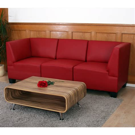 ebay canape canapé 3 places lounge salon lyon modulable simili cuir
