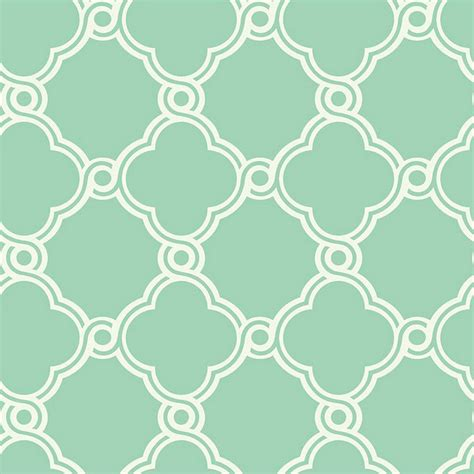 Fretwork Trellis Wallpaper Mint Greenwhite Double Roll