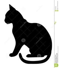Black Cat Profile Silhouette