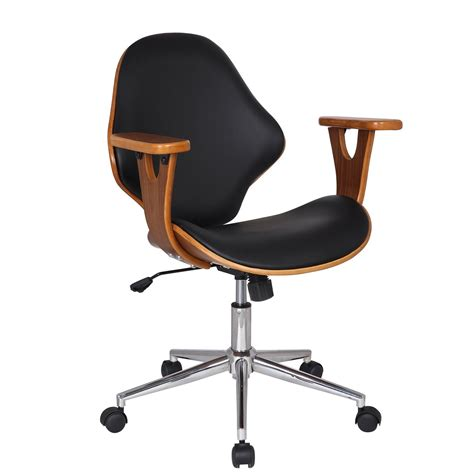 adeco bentwood walnut color home office chair