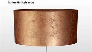 Lampenschirm Für Stehlampe : lampenschirm blattkupfer zylinder leuchtenmanufaktur brodauf ~ Orissabook.com Haus und Dekorationen