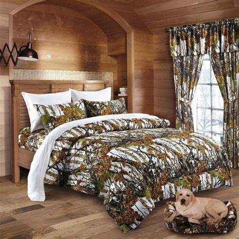 pc regal comfort white camo comforter sheets curtains