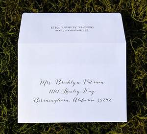 envelope addressing single envelope wiregrass weddings With addressing wedding invitations single envelope