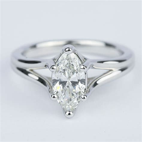 curved split shank marquise diamond engagement ring