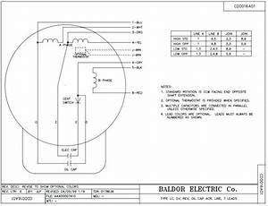 Baldor Electric Motor Drawings