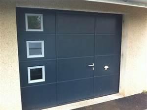 sectionnelle gamme nouvelle conseil installations et With porte de garage avec portes interieures vitrees modernes