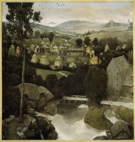 Alan Lee, Tents, Fantasy Art, The Mabinogion Wallpapers Hd