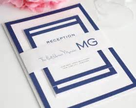 wedding invitation suite modern wedding invitations in blue with monogram wedding invitations