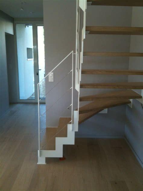 escalier 1 4 tournant en m 233 tal bois