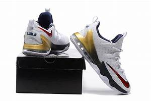"2017 Nike LeBron 13 Low ""USA"" Olympic Shoes 