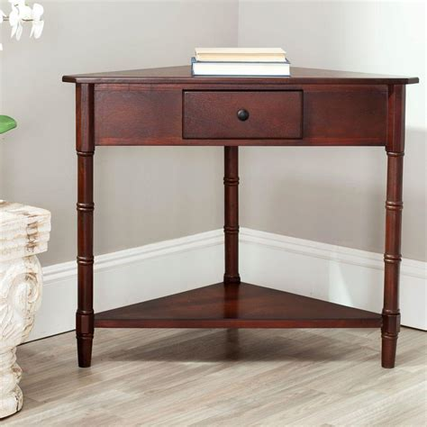 cherry sofa table with storage sauder carson forge washington cherry storage console table 414443 the home depot