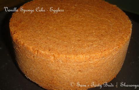 Sara's Tasty Buds Eggless Vanilla Sponge Cake