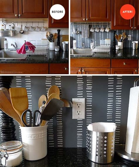 cheap diy kitchen backsplash ideas 15 inexpensive diy kitchen backsplash ideas and tutorials