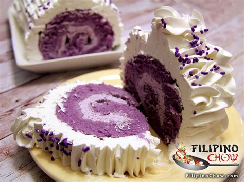 picture  ube roll cake filipino chows philippine food