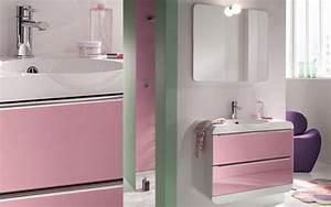meuble salle de bain rose obasinccom With meuble salle de bain rose