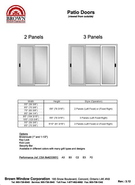 Sliding Patio Door: What Is The Standard Size Of A Sliding