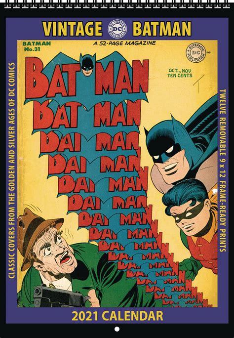 apr vintage dc comics batman  wall calendar previews world