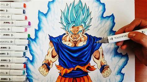 disegno goku ssj blue dragonball super drawing goku