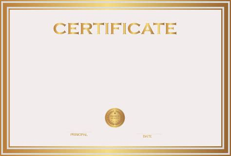 Certificate Template by Certificate Template Png Transparent Images Png All