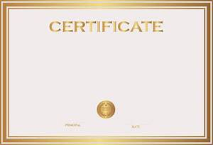 Free Certificate Template Certificate Template PNG Transparent Images PNG All