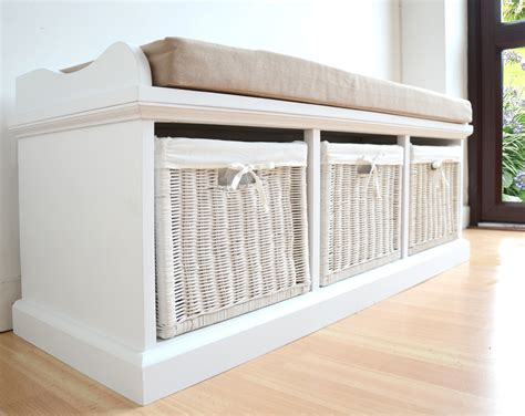 bench with storage baskets build a bench with storage baskets home decorations