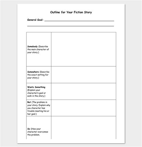 Book Outline Template  17+ Samples, Examples And Formats