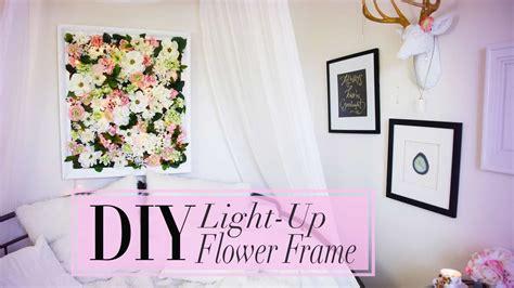 diy flower frame  christmas lights