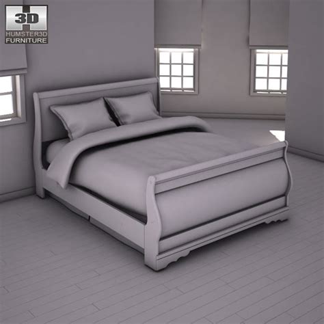 huey vineyard sleigh bed huey vineyard sleigh headboard bed 3d model