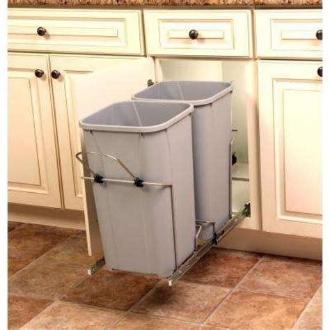cabinet trash can home depot pull out trash cans kitchen cabinet organizers the
