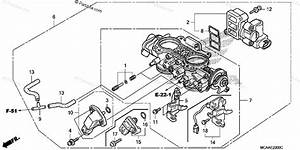 Honda Motorcycle 2008 Oem Parts Diagram For Throttle Body