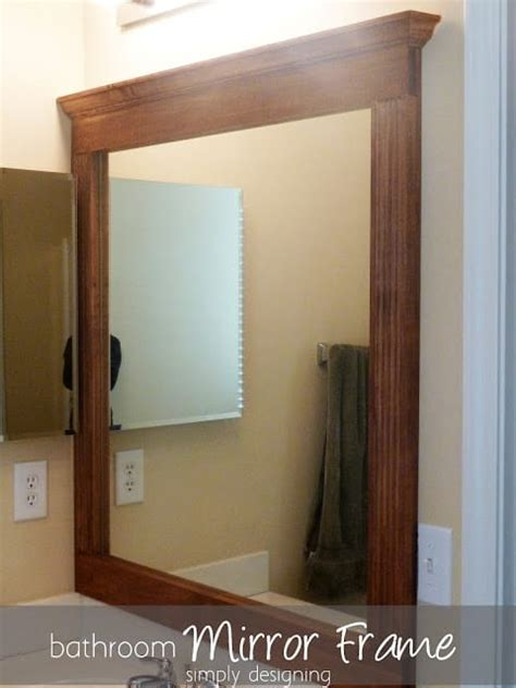 How Do You Frame A Bathroom Mirror bathroom mirror re v part 2