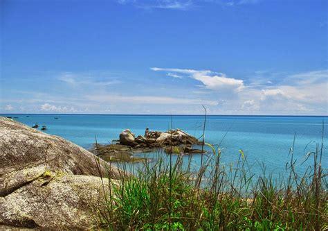 pantai tikus pemandangan luar biasa  bangka kepulauan