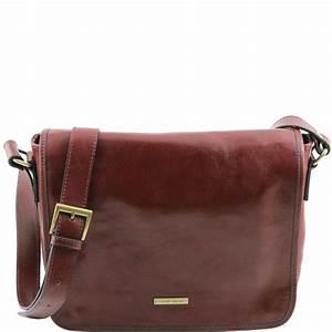 Sac Bandoulière Cuir Marron : sac bandouli re besace cuir homme marron tuscany leather ~ Melissatoandfro.com Idées de Décoration