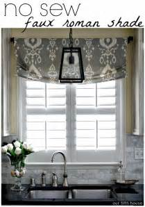 kitchen window treatments ideas pictures 25 best ideas about faux shades on no kitchen curtains and kitchen