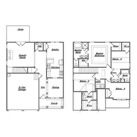 awesome single family home floor plans  home plans design