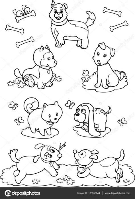 Kleurplaten Schattige Honden by Schattige Honden Kleurplaat Pagina Stockvector