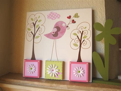 unique nursery bird canvas room painting one of a