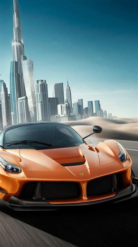 wallpaper ferrari orange supercar speed dubai