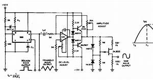 Simple Triangle To Sine Converters Circuit Diagram
