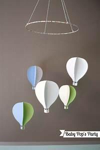 Mobile Chambre Bébé : diy mes petites montgolfi res mobile de chambre pour b b baby pop 39 s party d coration ~ Teatrodelosmanantiales.com Idées de Décoration