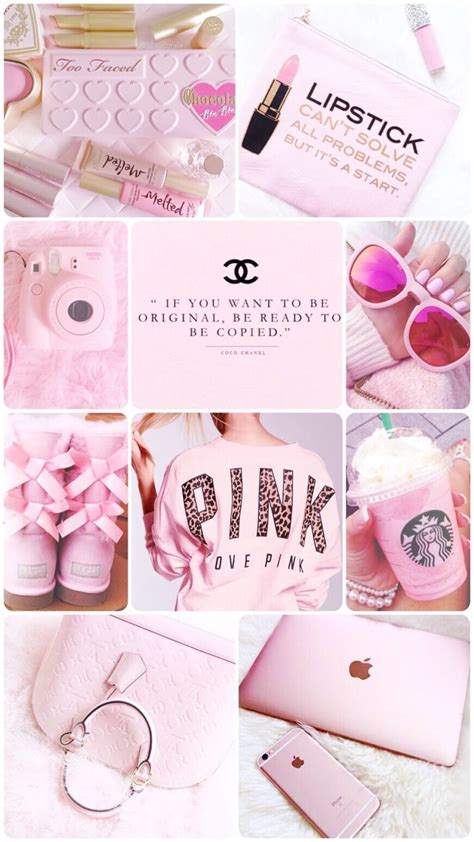 a livingroom hush pink collage wallpaper background iphone pretty girly 28