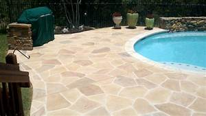 Stamped concrete colors nh ma me decorative contractor for Pool deck ideas made from concrete
