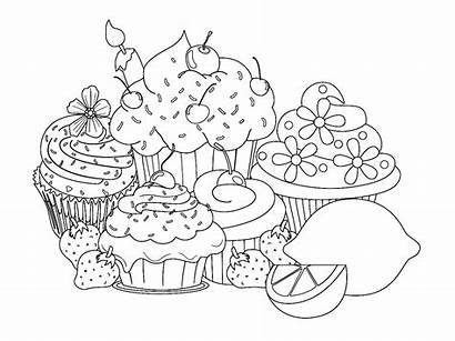 Pages Sweet Cupcake Coloring Cakes Cup Cake